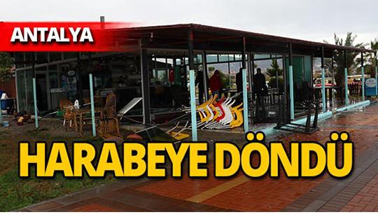 Antalya'da hortum!