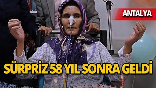 Antalya'da kanser hastası kadına anlamlı sürpriz