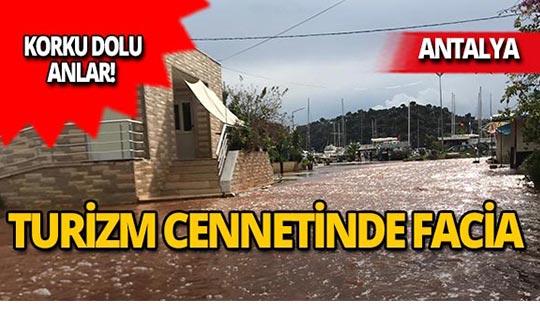 Antalya'da korku dolu anlar!