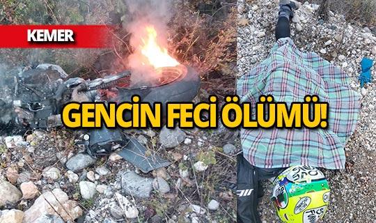 Antalya'da motosikletli gencin feci ölümü