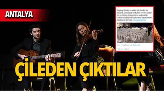 Antalya'da ünlü müzisyenin konser vereceği alana gelen vatandaşlar şoke oldu!