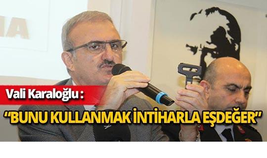 Antalya Valisi Karaloğlu, tek tek kırdı!