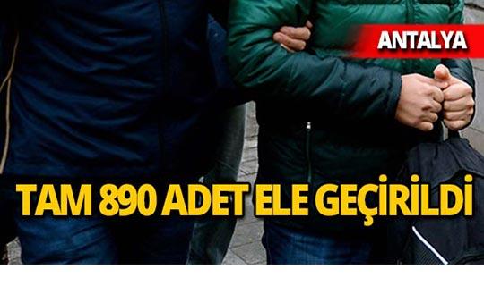 Antalya'da otobüs terminalinde yakalandı!