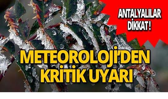 Antalyalılar dikkat! Meteoroloji'den don uyarısı!