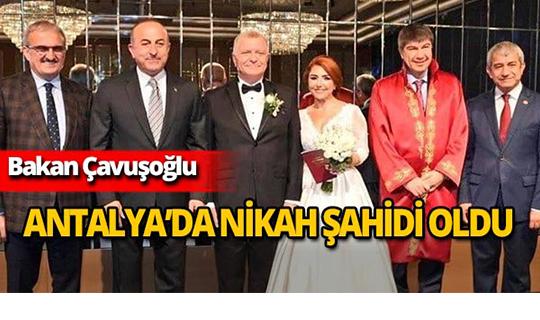 Bakan Çavuşoğlu Antalya'da nikah şahitliği yaptı