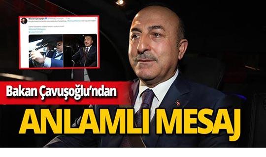 Bakan Çavuşoğlu'nun paylaşımı çok sayıda beğeni aldı!
