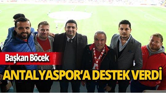 Başkan Böcek'ten Antalyaspor'a destek