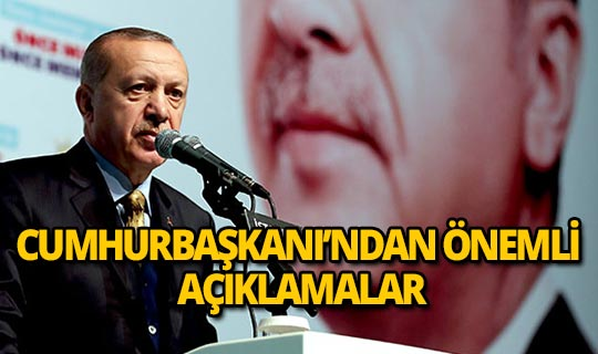 Cumhurbaşkanı Erdoğan'dan teşkilat toplantısında önemli açıklama