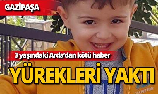 Kamyonetle duvar arasına sıkışan 3 yaşındaki Arda'dan acı haber