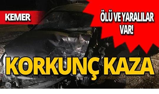 Kemer'de korkunç kaza : 2 ölü, 4 yaralı!