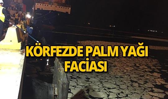Körfez'e palm yağı sızdıran gemiye ceza