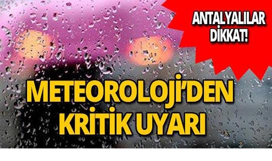 Meteoroloji uyardı: Akdeniz'de fırtına uyarısı!