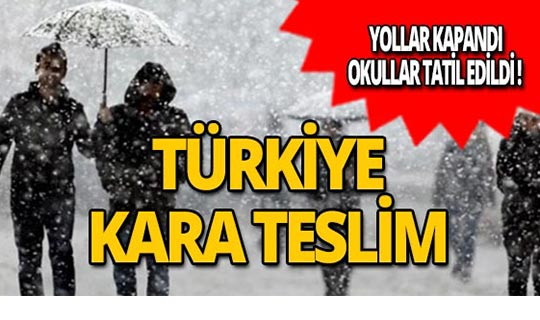 Türkiye kara teslim!