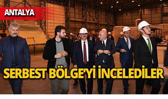 Vali Karaloğlu ve ASELSAN Başkanı Görgün Serbest Bölge'yi inceledi