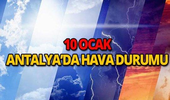10 Ocak 2019 Antalya hava durumu