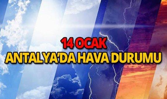 14 Ocak Antalya hava durumu