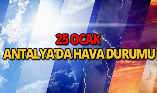 25 Ocak 2019 Antalya hava durumu
