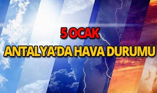 5 Ocak 2019 Antalya hava durumu