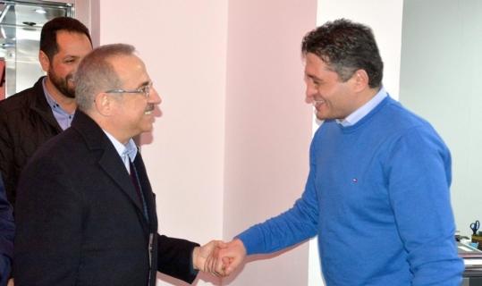 AK Partili Kerem Ali Sürekli'den Başkan Serkan Acar'a ziyaret