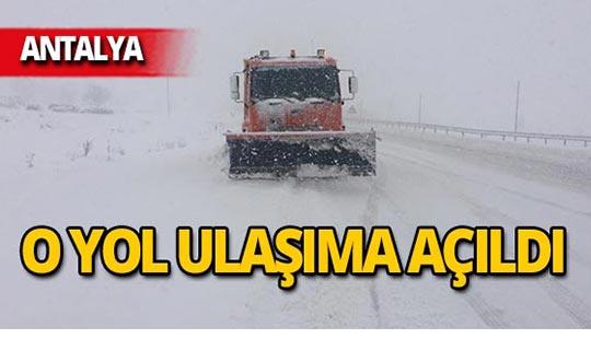 Akseki-Seydişehir karayolu trafiğe açıldı!