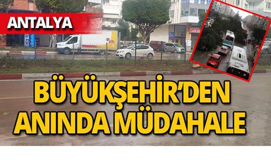 Antalya'da fırtına sonrası temizlik!