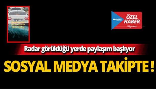 Antalya'da radara sosyal medya önlemi!