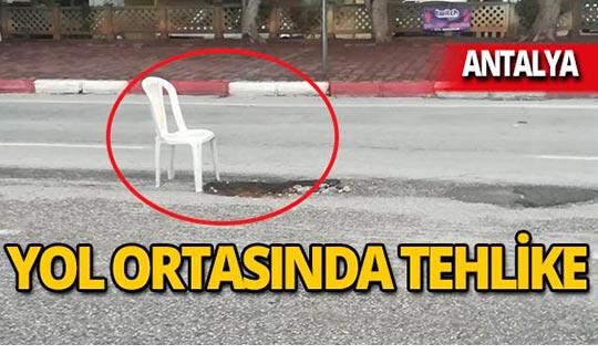 Antalya'da sandalyeli önlem!