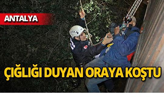 Antalya'da yaşlı adamın çığlıklarını duyan koştu!