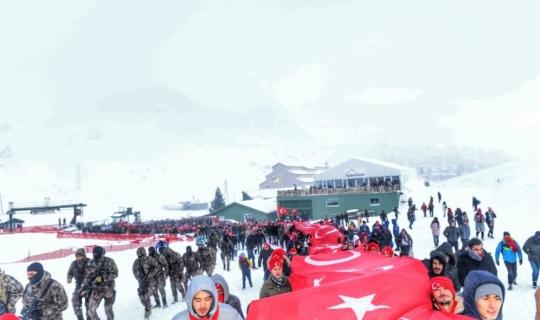 Antalya Saklıkent'te Sarıkamış şehitleri için yürüyüş