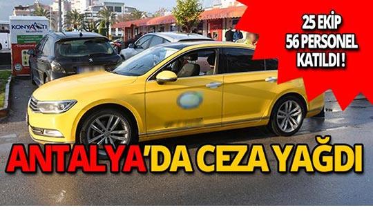 Antalya'da taksicilere 2 bin 846 TL ceza!