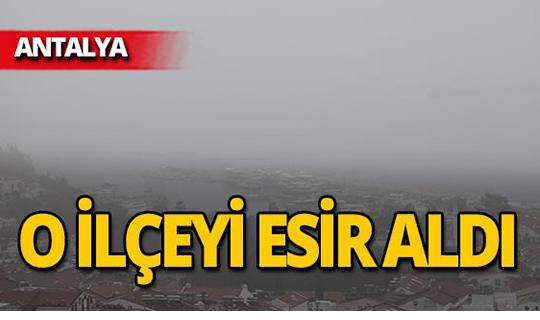 Antalya'da yağmur yerine çamur yağdı!