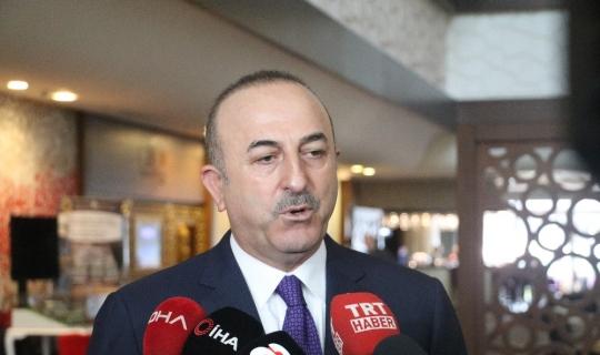 """Bakan Çavuşoğlu: """"Bunun arkasında PKK olduğunu biliyoruz"""""""