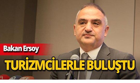 Bakan Ersoy Antalya'da önemli açıklamalarda bulundu