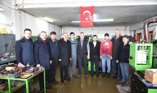 Başkan Babaş, Kuzeykent Sanayi Sitesi esnaflarını ziyaret etti
