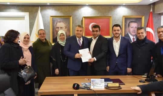 Başkan Çerçi adaylık başvurusunu yaptı