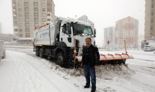 Başkan Palancıoğlu, karla mücadelede