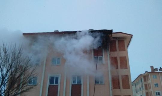 Bitlis'te ev yangını
