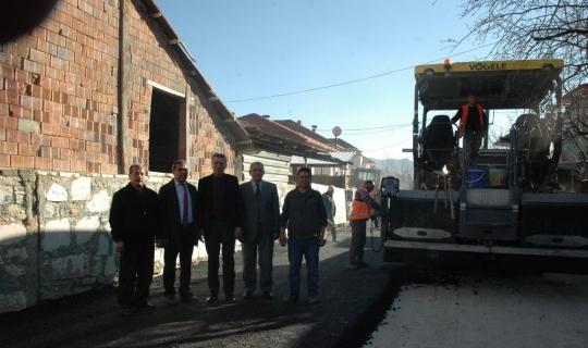 Bucak'ta sıcak asfalt çalışması