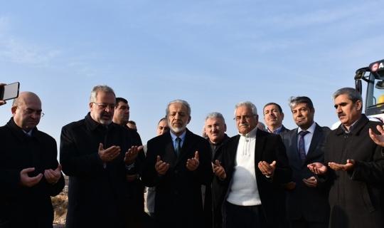 Cami Kültür Merkezinin temeli dualarla atıldı