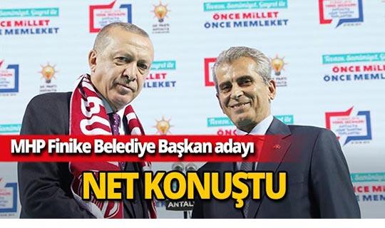 """Cumhur İttifakı Finike adayı Nail Dülgeroğlu: """" Finike'de açık ara farkla kazanacağız"""""""