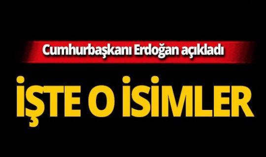 Cumhurbaşkanı Erdoğan açıkladı! İşte AK Parti'nin o ildeki adayları!