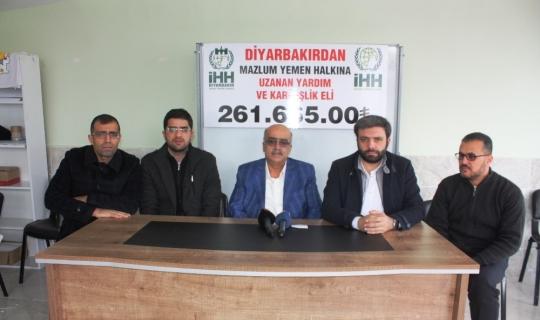 Diyarbakır'dan Yemen'e 261 bin 665 TL yardım