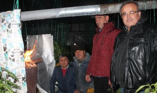 Antalya'da eksi 1 derecede 'don' nöbeti