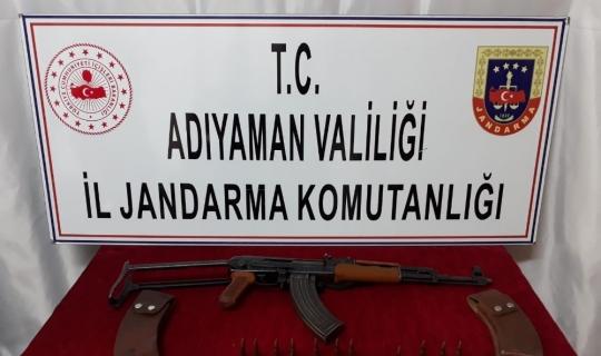 Jandarma uzun namlulu silah ele geçirdi