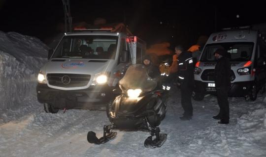 Kalp hastasına kar motoru ile ulaşıldı
