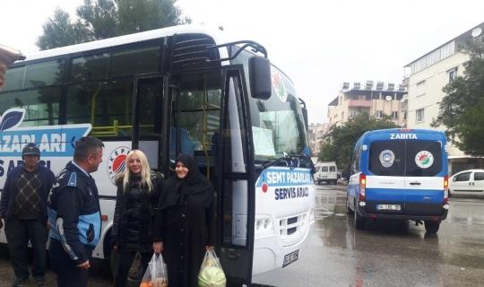 Kepez'den semt pazarlarına ücretsiz servis