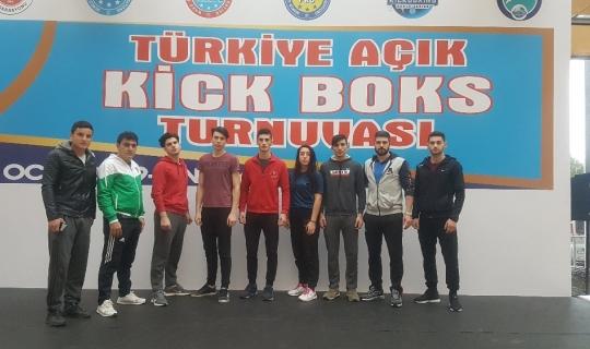Kick boksta Türkiye ikincisi oldu