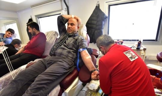 Kızılayın kan bağışı çağrısına Ahlatlılardan destek