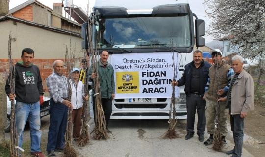 Konya Büyükşehir Belediyesinden çiftçiye destek