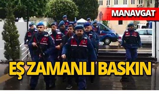 Manavgat'ta operasyon: 5 tutuklama!